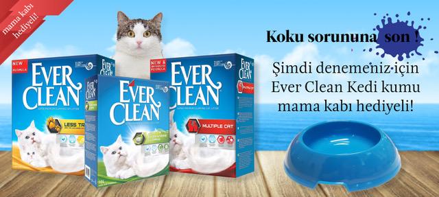 Ever Clean Kedi Kumu Mama Kabı Hediyeli