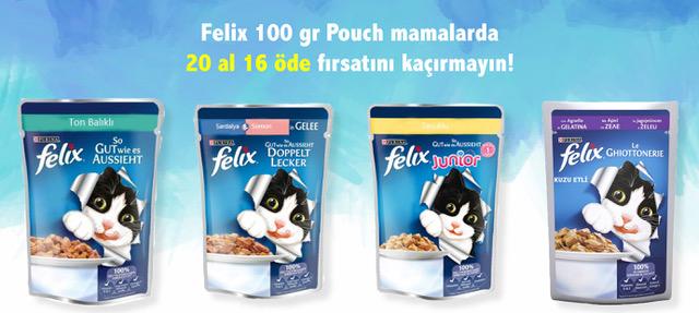 Felix Pouch Kedi Maması 20 Al 16 Öde