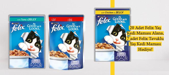 Felix Yaş Kedi Maması 20 Al 7 Hediye