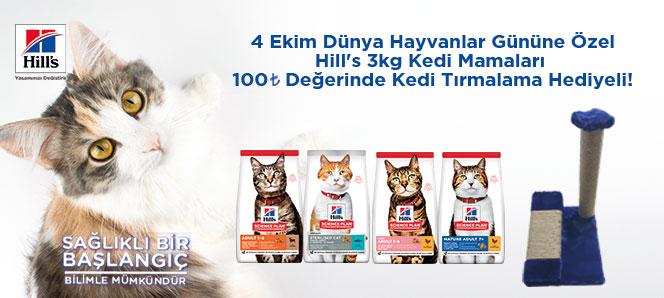 Hills 3 Kg Kedi Mamaları Tırmalama Hediyeli