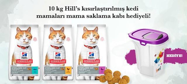 Hills Kısır Kedi Maması Saklama Kabı Hediyeli