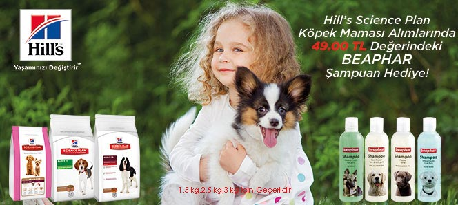 Hills Köpek Maması Beaphar Şampuan Hediyeli