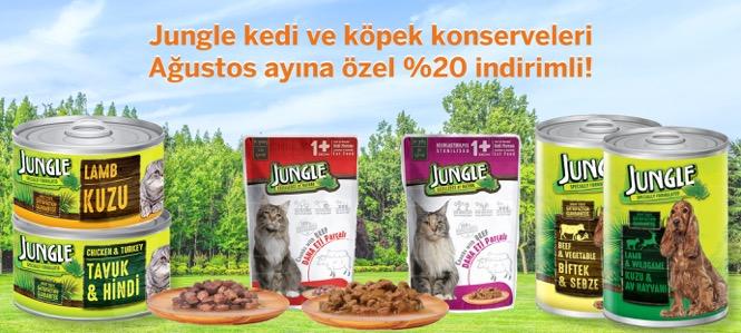 Jungle Kedi Köpek Konservesi Ağustos İndirimli