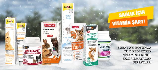 Kedi Köpek Vitaminleri Şubat Boyunca İndirimli