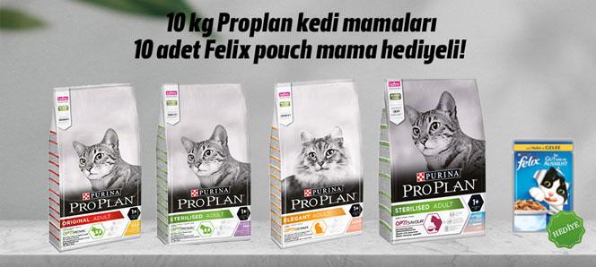 Proplan 10 Kg Kedi Maması Felix Hediyeli
