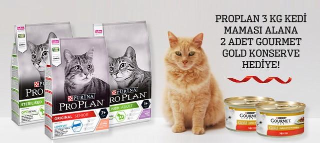 Proplan 3 Kg Kedi Maması Konserve Hediyeli