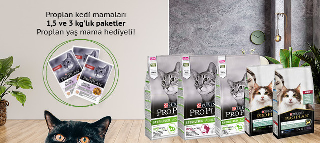 Proplan 1,5 ve 3 Kg Kedi Maması 85 Gr Hediyeli