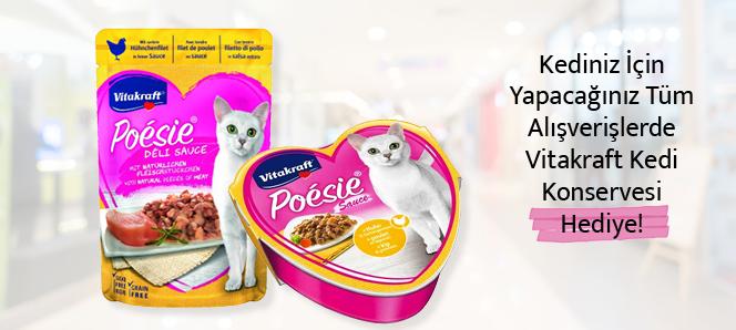 Siparişlere Vitakraft Kedi Maması Hediye