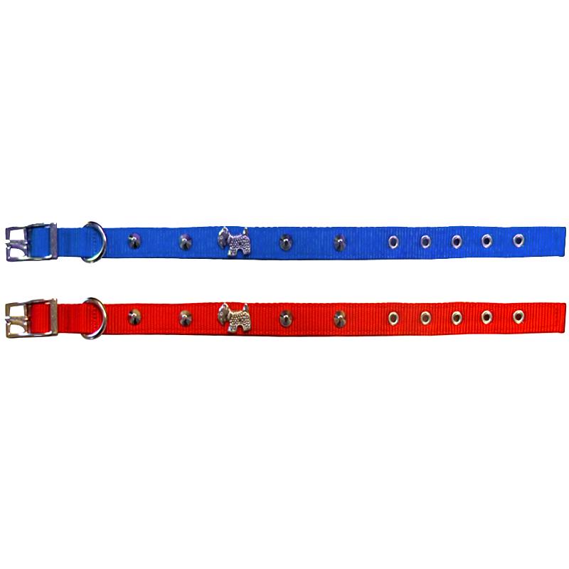Pet Style Metal Köpek Figürlü Çift Katlı Köpek Boyun Tasması 40 cm | 26,77 TL