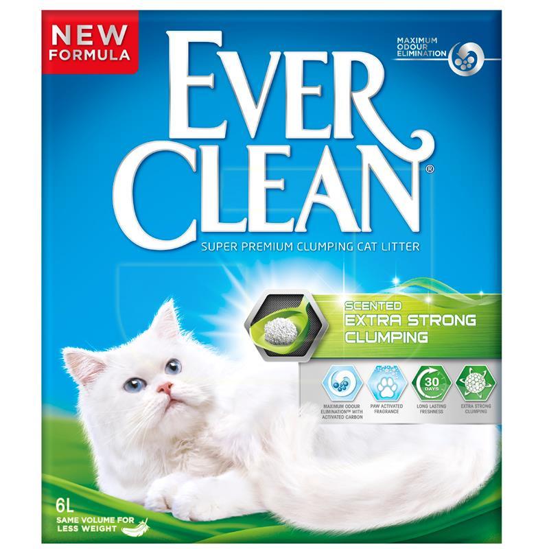 Ever Clean Extra Strong Kokulu Topaklaşan Kedi Kumu 6 Litre