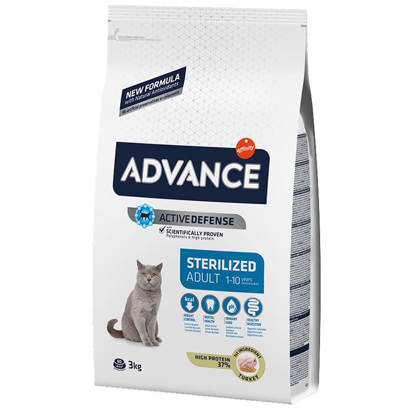 Advance Hindi Ve Arpalı Kısırlaştırılmış Yetişkin Kedi Maması 3 Kg   174,17 TL