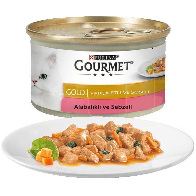Purina Gourmet Gold Alabalık Ve Sebzeli Kedi Konservesi 85 gr