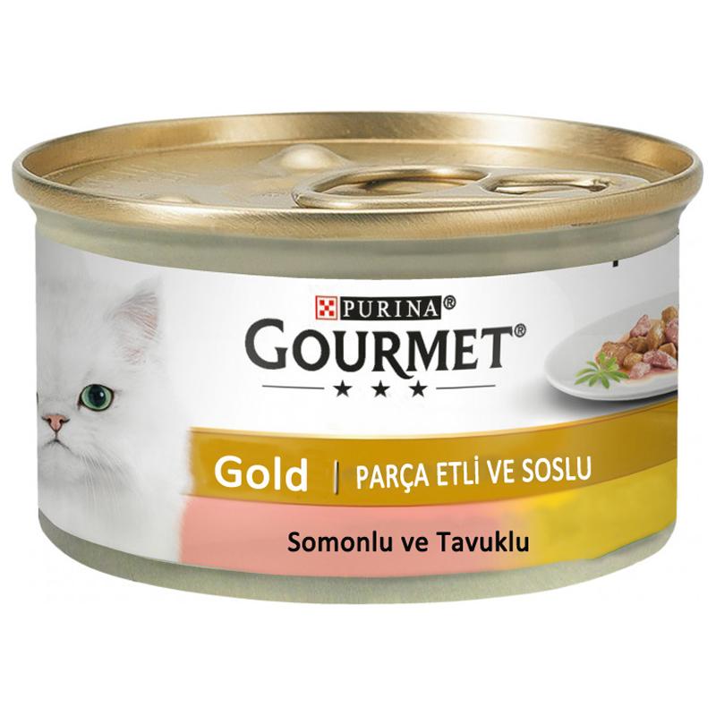 Purina Gourmet Gold Somonlu Ve Tavuklu Kedi Konservesi 85 gr | 6,59 TL