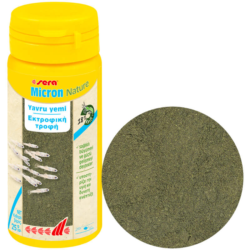 Sera Yavru Balık Yemi Micron Nature Granül 50 ml | 35,69 TL