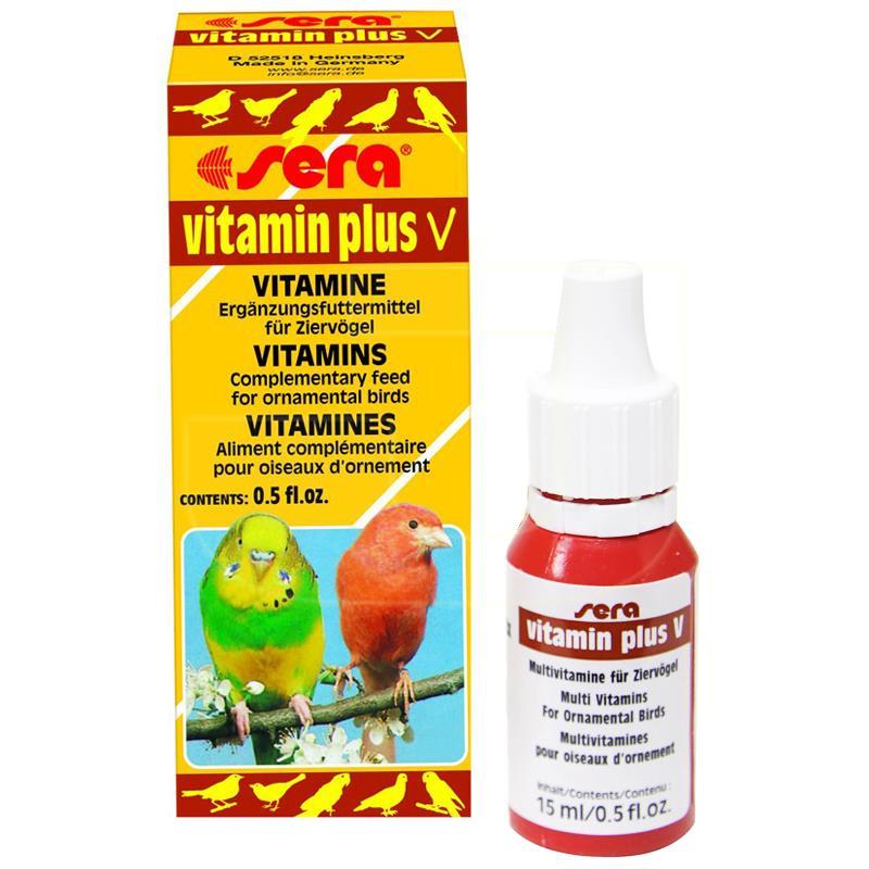 Sera Vitamin Plus V Kuşlar İçin Vitamin 15 ml | 83,16 TL