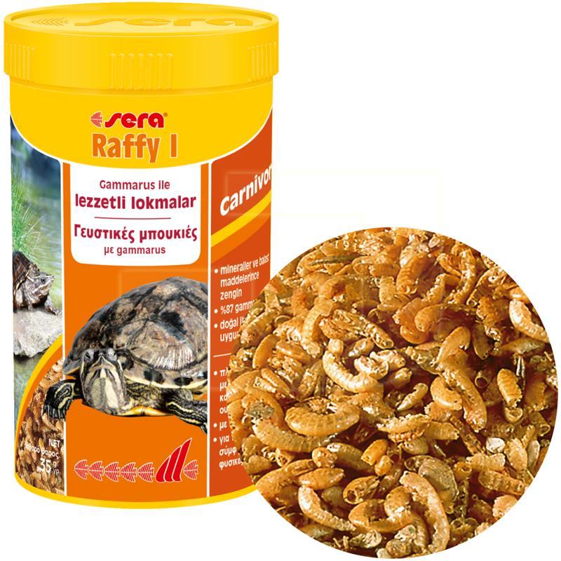 Sera Raffy I Gammaruslu Kaplumbağa Ve Sürüngen Yemi 250 ml | 44,28 TL