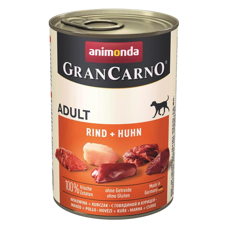 Animonda Gran Carno Sığır Etli Ve Tavuklu Konserve Köpek Maması 400 gr   19,54 TL