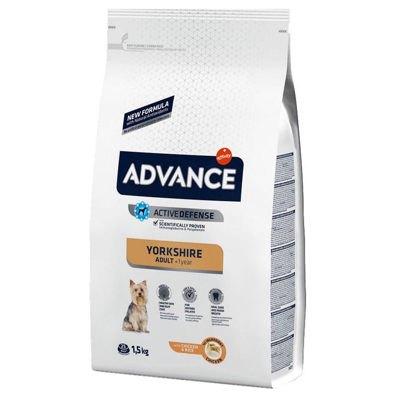 Advance Yorkshire Terrier Tavuklu Ve Pirinçli Köpek Maması 1,5 Kg   131,66 TL
