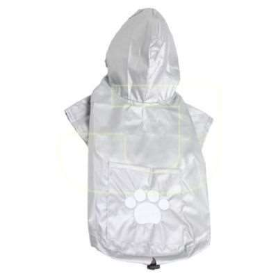 DoggyDolly Raincoat Two Legs Silver Gri Kap�onlu Köpek Ya�murlu�u  (XL) | 79,00 TL