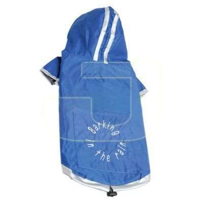 DoggyDolly Raincoat Two Legs Blue Mavi Kap�onlu Köpek Ya�murlu�u  (S) | 85,00 TL