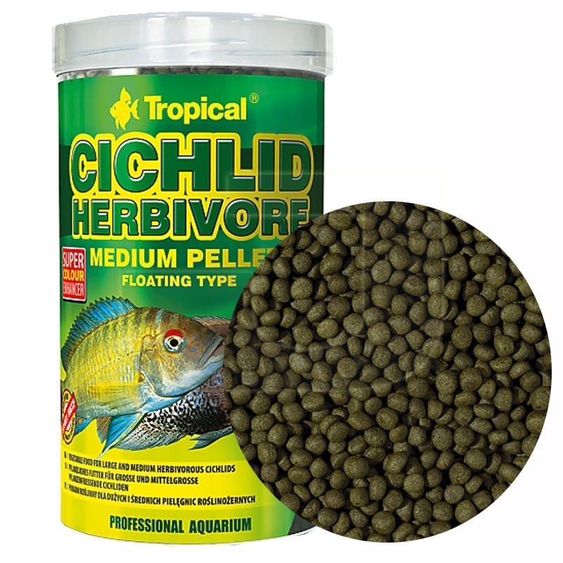 Tropical Cichlid Herbivore Small Pellet Cichlid Balığı Yemi 250 ml | 38,43 TL