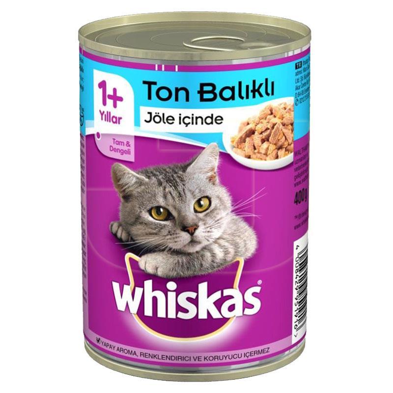 Whiskas Gravy Soslu Ton Balıklı Konserve Kedi Maması 400 gr   11,66 TL