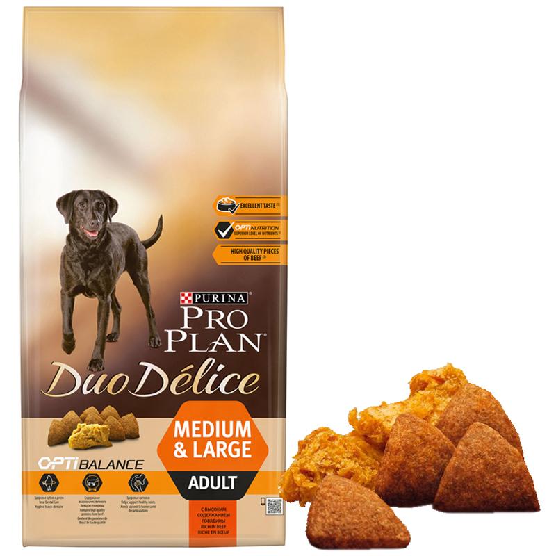 ProPlan Duo Delice Sığır Etli Orta Ve Büyük Irk Köpek Maması 2,5 Kg   115,49 TL