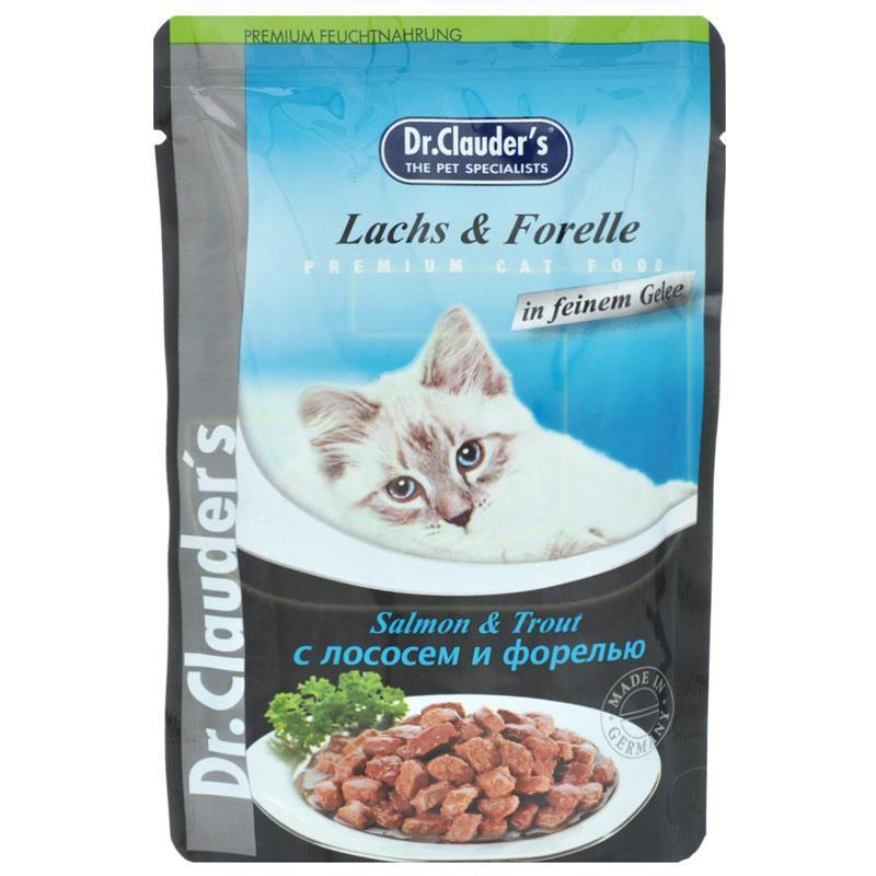 Dr. Clauders Somonlu Ve Alabalıklı Pouch Kedi Maması 100 gr   6,32 TL
