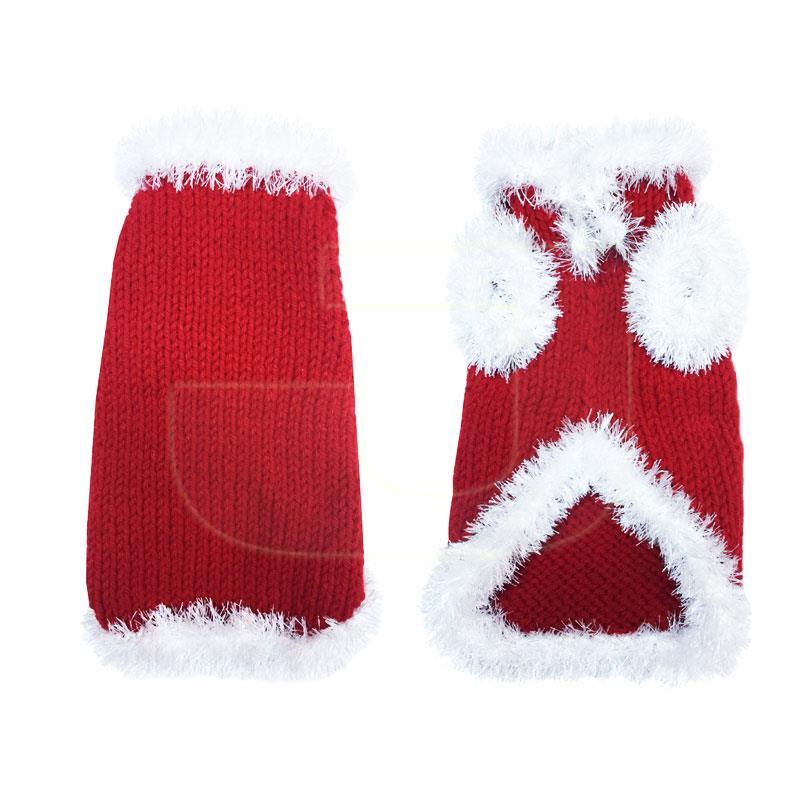 El Örgüsü Triko Noel Baba Köpek Elbisesi 35 cm   70,62 TL