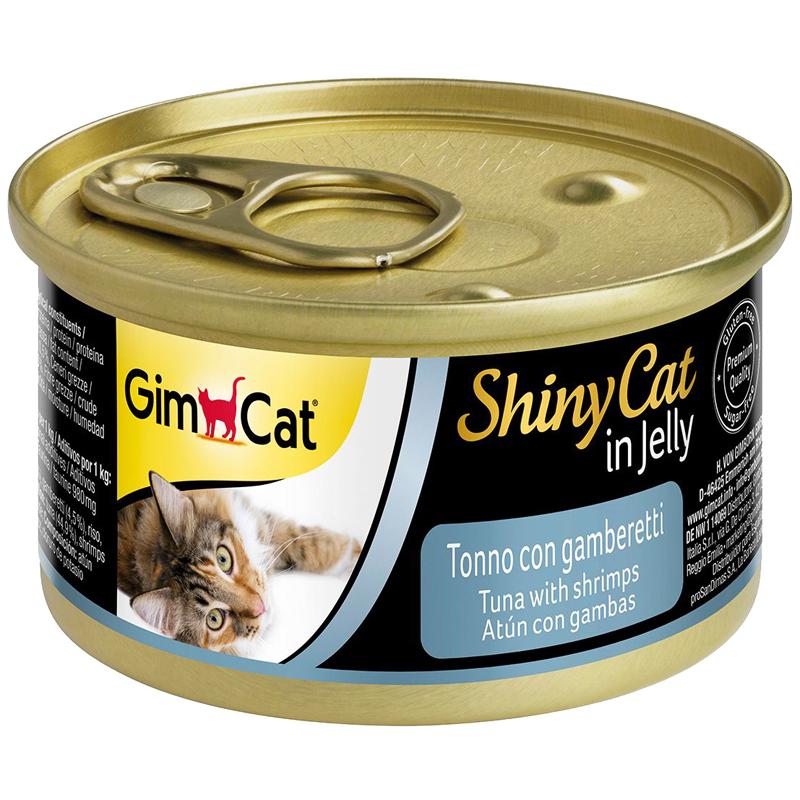 Gimcat Shinycat Ton Balıklı Ve Karidesli Konserve Kedi Maması 70 gr | 9,56 TL