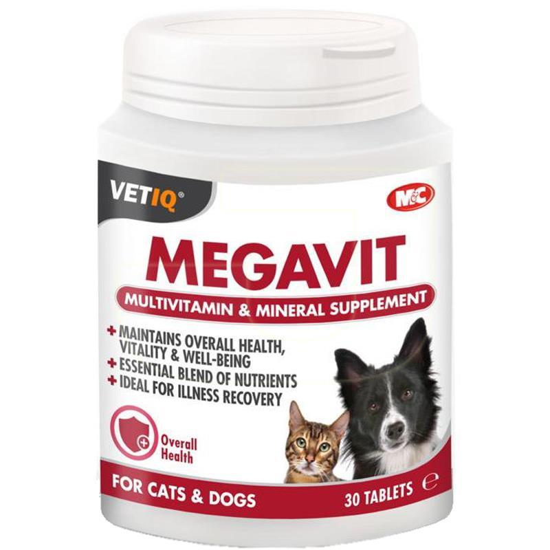 MC VetIQ Megavit Kediler Ve Köpekler İçin Multivitamin 30 Tablet | 131,75 TL