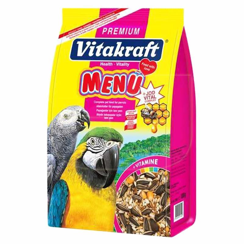Vitakraft Premium Menü Jod Vital Papağan Yemi 1 Kg | 25,94 TL