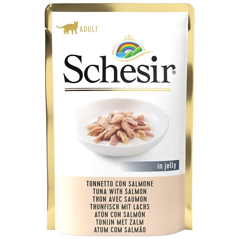 Schesir Pouch Ton Balıklı Ve Somonlu Kedi Konservesi 85 gr | 15,74 TL