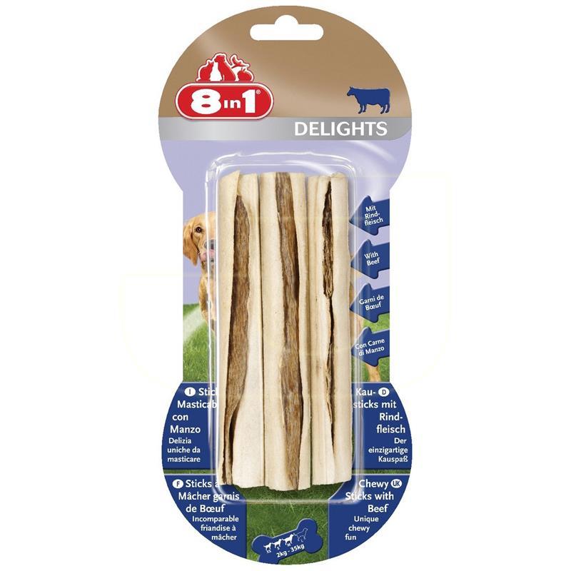 8in1 Delights Biftekli Sticks Köpek Kemiği 75 gr 3 Adet | 31,50 TL