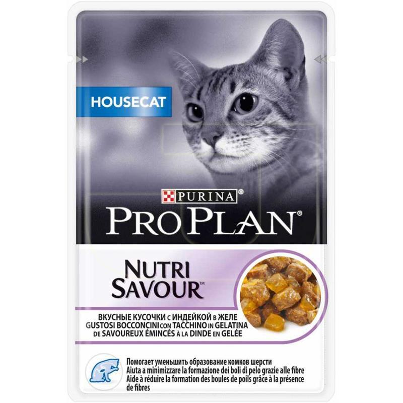 ProPlan Nutri Savour Housecat Hindili Kedi Konservesi 85 gr   5,24 TL