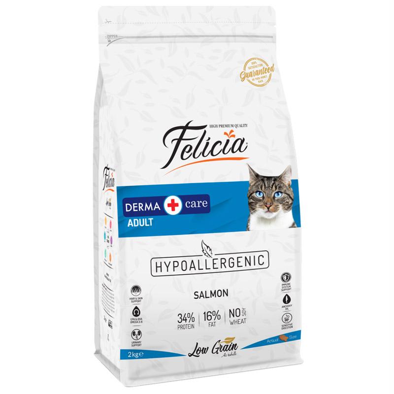 Felicia Somon Balıklı Düşük Tahıllı Yetişkin Kedi Maması 2 Kg