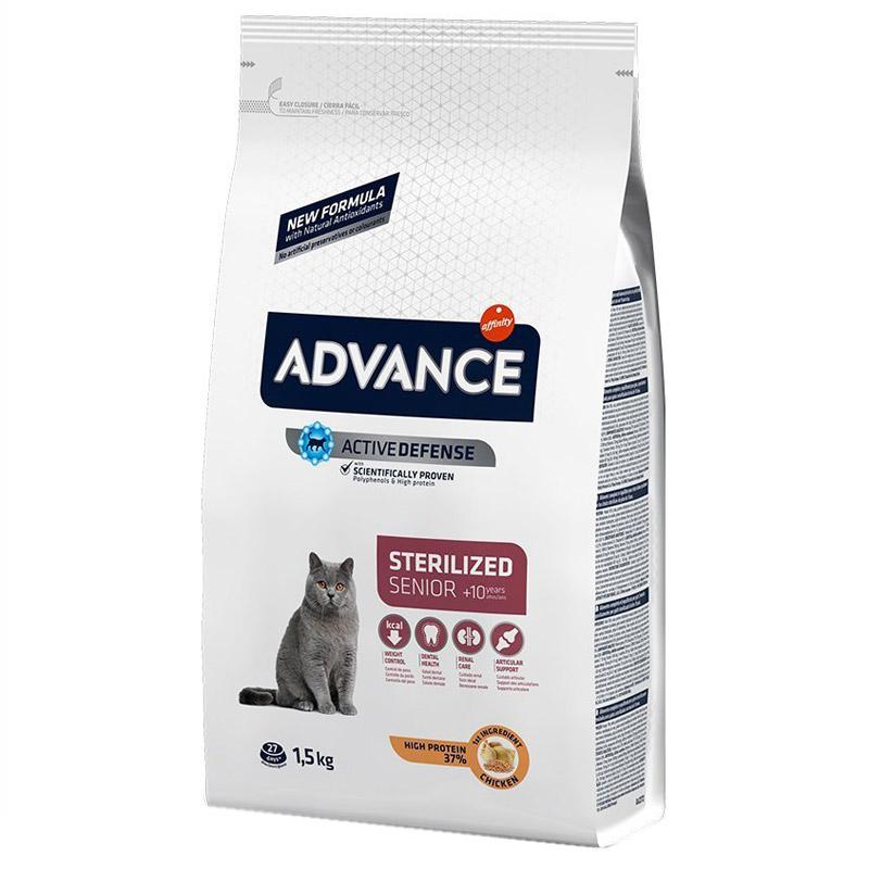 Advance Tavuklu Ve Arpalı Kısırlaştırılmış Yaşlı Kedi Maması 1,5 kg | 93,42 TL