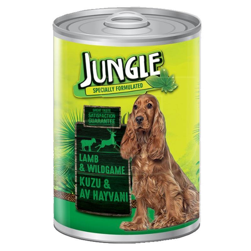 Jungle Kuzu Etli Ve Av Hayvanlı Konserve Köpek Maması 415 gr | 6,67 TL