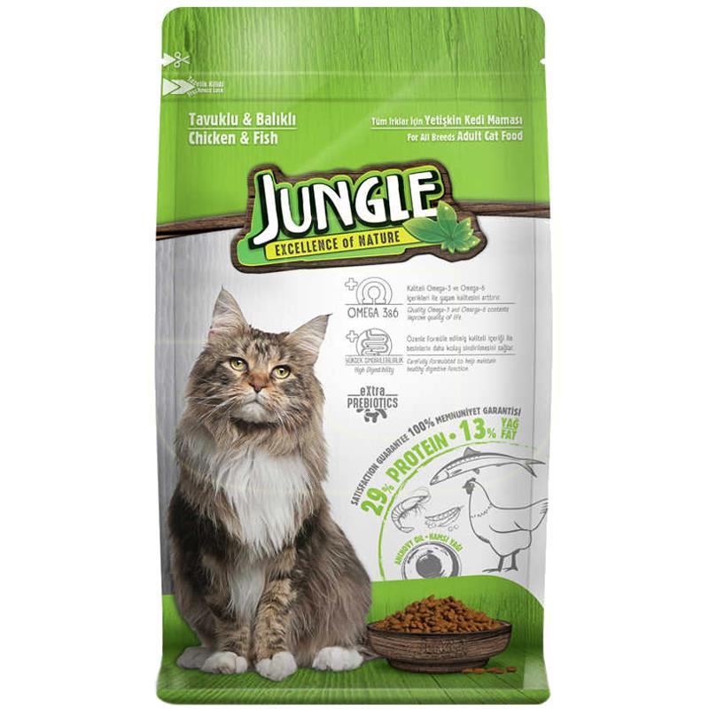 Jungle Tavuk Etli Ve Balıklı Yetişkin Kedi Maması 12 kg | 153,94 TL