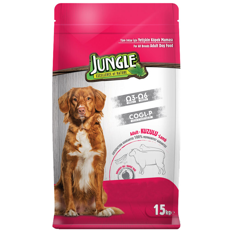 Jungle Kuzu Etli Yetişkin Köpek Maması 15 kg | 169,58 TL