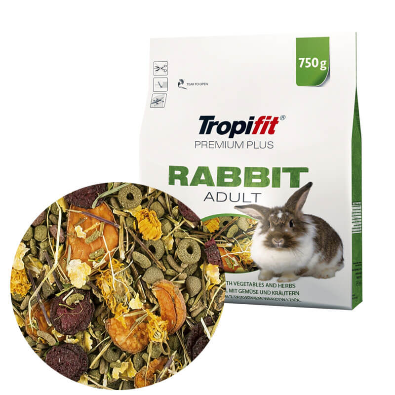 Tropifit Premium Plus Sebzeli Tavşan Yemi 750 gr   46,70 TL