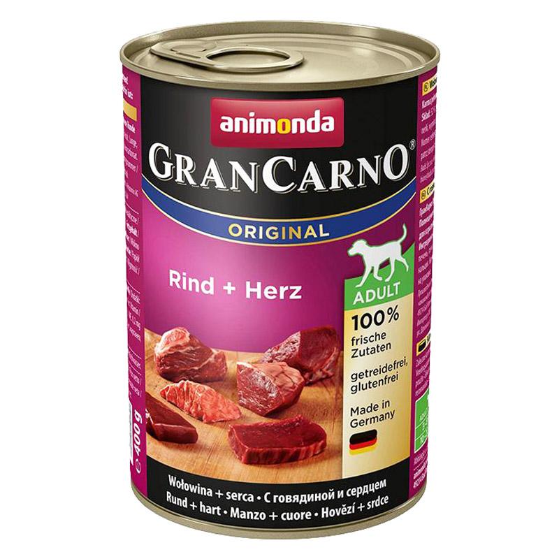Animonda Gran Carno Sığır Etli Ve Yürekli Konserve Köpek Maması 400 gr | 12,32 TL