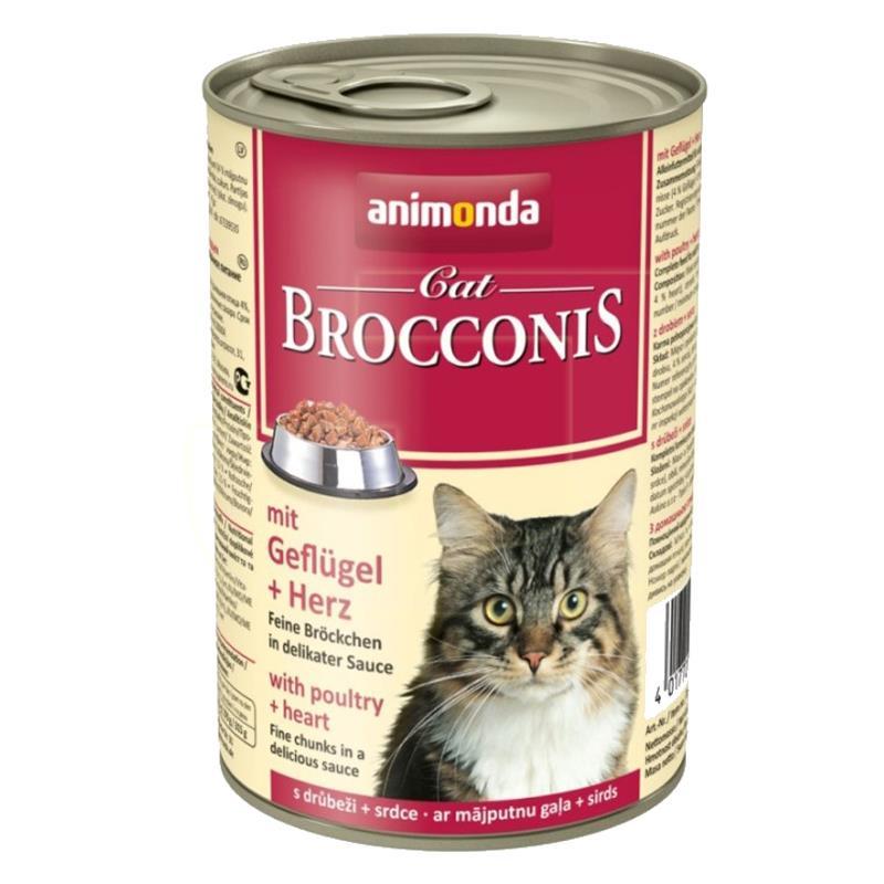 Animonda Brocconis Yürek ve Kümes Hayvanlı Kedi Konservesi 400 gr | 9,00 TL