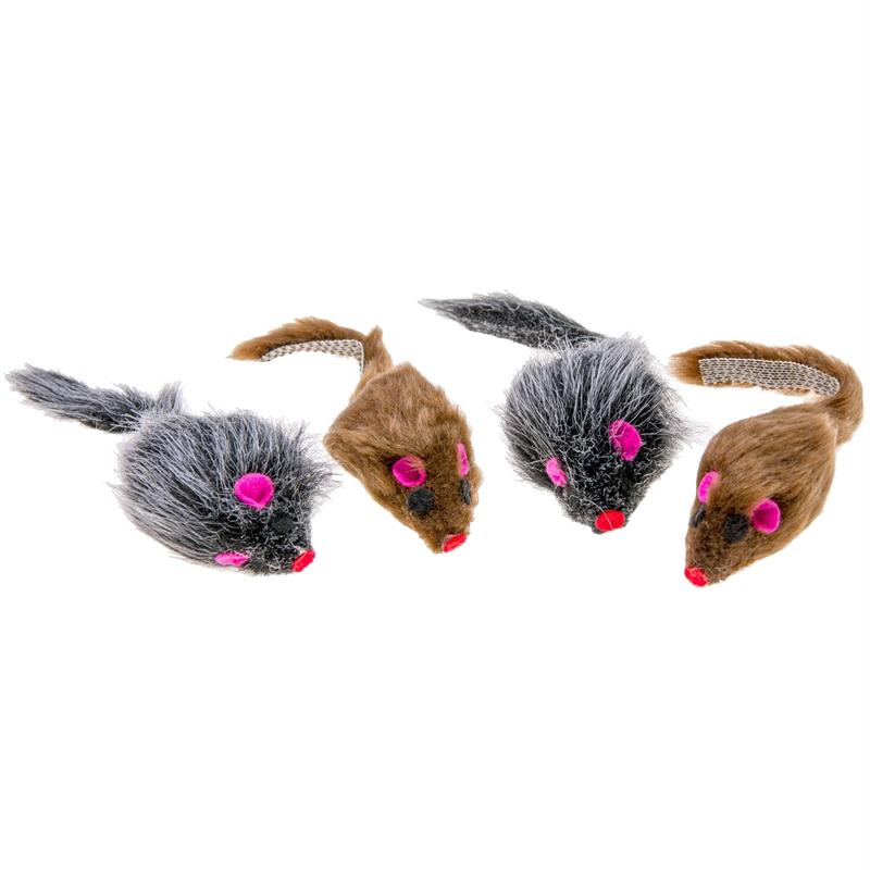 Karlie Catnipli Peluş Fare Kedi Oyuncağı 5 cm 4 Adet   37,17 TL