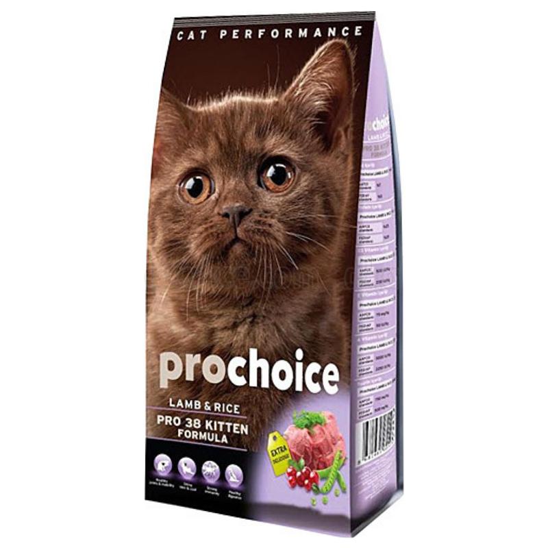 Prochoice Pro38 Kitten Kuzu Etli Ve Pirinçli Yavru Kedi Maması 15 kg | 298,88 TL