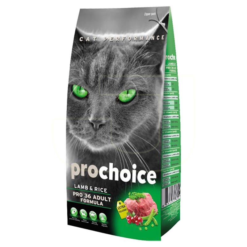 Prochoice Pro36 Adult Kuzu Etli Ve Pirinçli Yetişkin Kedi Maması 15 kg   290,50 TL