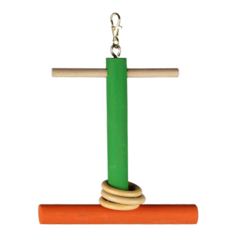 Beaks Tünekli Ve Halkalı Ahşap Salıncak Kuş Oyuncağı 20 cm | 21,77 TL