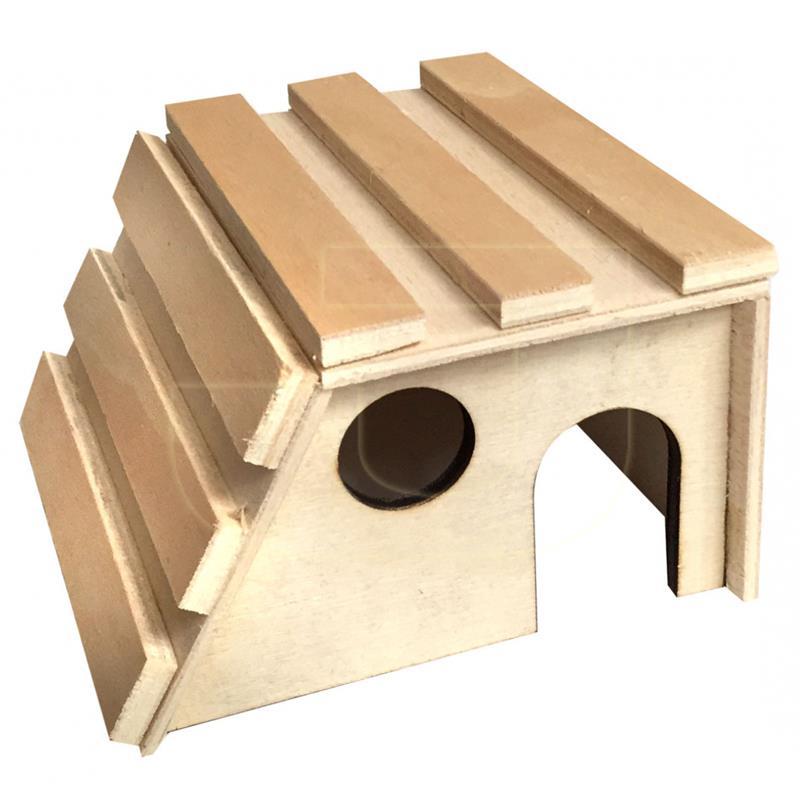 Beaks Kemirgenler İçin Merdivenli Ahşap Küçük Kemirgen Evi 13 cm | 17,76 TL