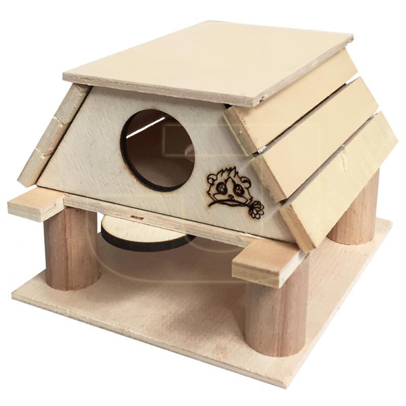 Beaks İki Katlı Ahşap Hamster Oyun Evi 16 cm | 16,77 TL