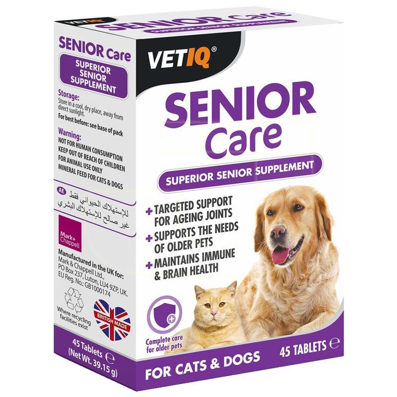 MC VetIQ Senior Care Yaşlı Kedi Köpek Eklem Besin Takviyesi 45 Adet | 143,67 TL